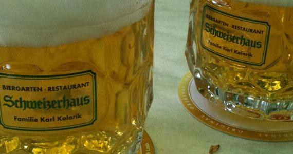 kühles blondes Bier