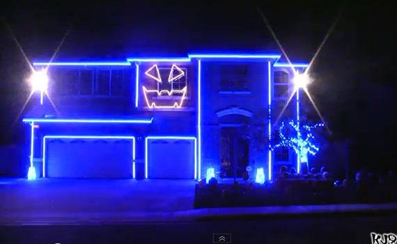 Halloween Light Show 2011